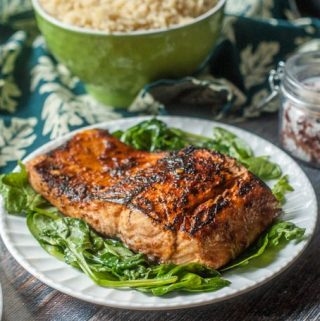 Need quick and easy dinner? This chili soy salmon is awesome and only takes 4 ingredients and 15 minutes to make. I like it because it's fairly low carb and my family loves it.