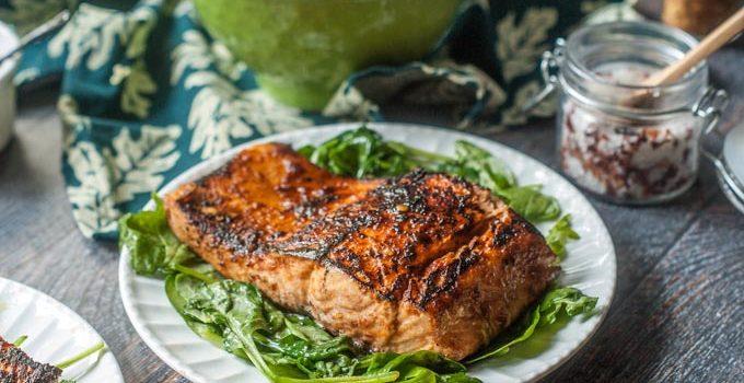 Chili Soy Salmon (4 Ingredients)