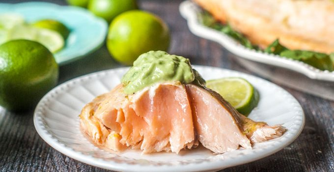 Lime Margarita Grilled Salmon (low carb)