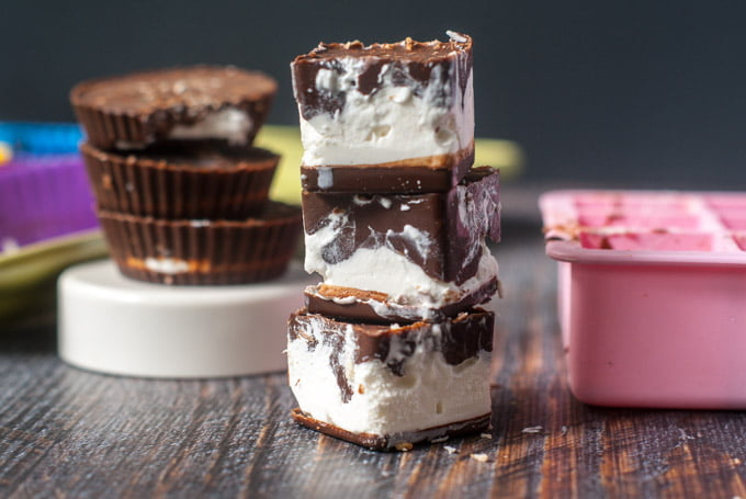 These low carb coconut marshmallow cups are a very tasty candy you can make in no time. Full of chocolate and crunchy coconut with that special marshmallow creamy center. Only 0.9g net carbs per candy.