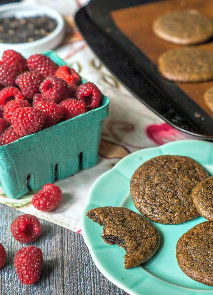 These raspberry earl grey tea cookies are a tasty way to get a lift in the afternoon. The raspberry and earl grey flavors make these low carb cookies the perfect match to a  cup of tea. Gluten free, grain free and only 0.2g net carbs per cookie.