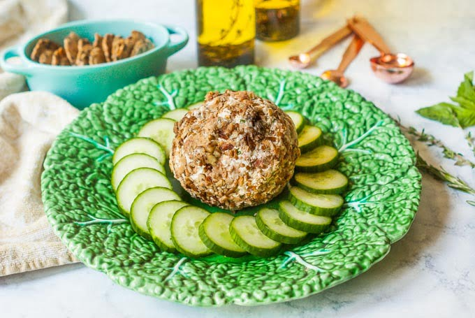 Bacon Herb Goat Cheese Ball (low carb)
