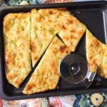 This fathead rosemary garlic flatbread is a delicious low carb snack or side dish that also makes a good sandwich bread substitute. Just a few ingredients are needed to make this tasty recipe!
