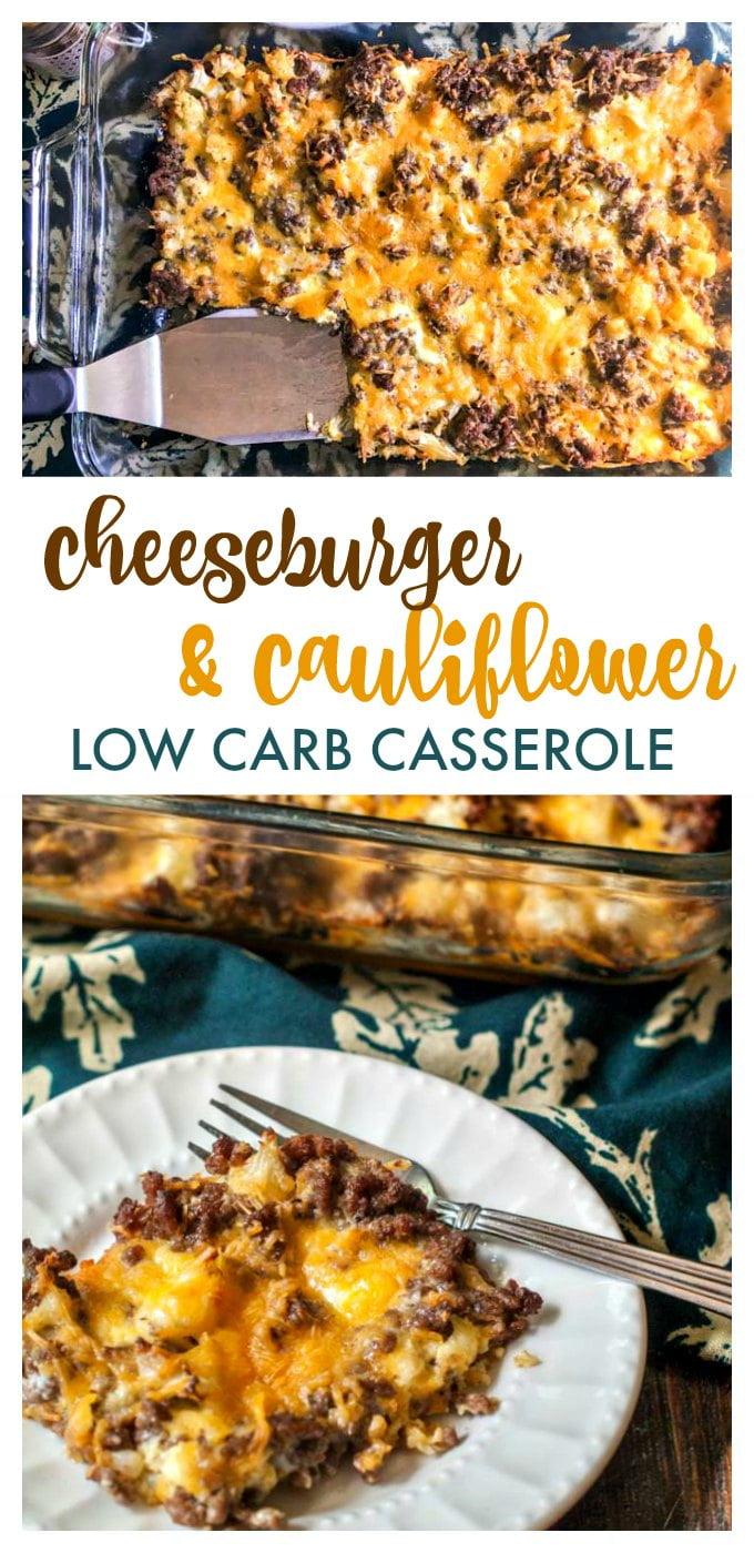 This ketolow carb cheeseburger & cauliflower casserole is pure comfort food. Freeze individual servings for a quick low carb lunch. Only 1.4g net carbs per serving.