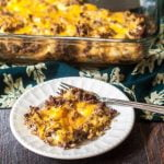 This low carb cheeseburger & cauliflower casserole is pure comfort food. Freeze individual servings for a quick low carb lunch. Only 1.2g net carbs per serving