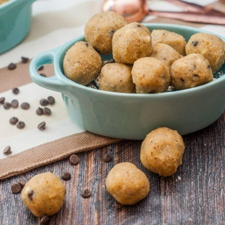 These low carb cookie dough snacks are delicious and easy to make with only 1.3g net carbs!  Store them in the freezer for a quick, low carb treat you can grab and go.