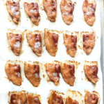 cookie sheet with bacon chips