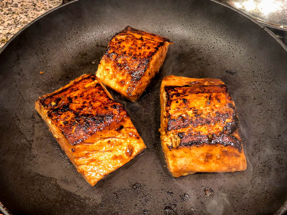 salmon with cooked low carb salmon filets