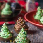 christmas tree mousse cups with text overlay