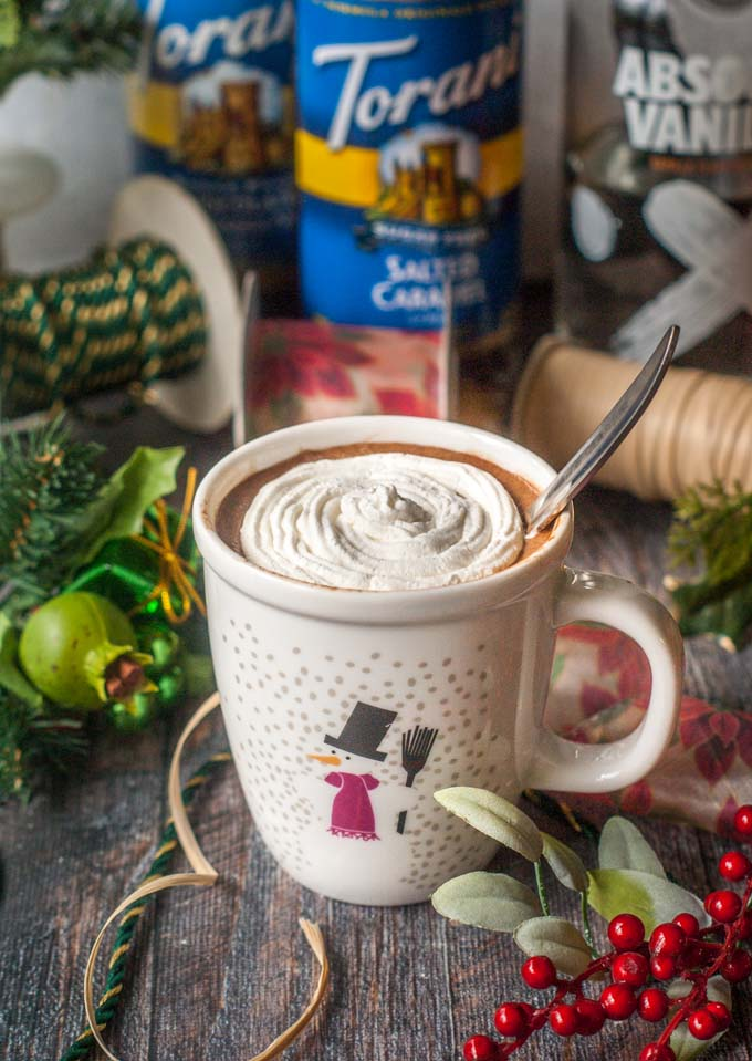 Santa's Little Helper - a low carb spiked cocoa is the perfect way to unwind during the holiday rush. Creamy, sweet and only 3.8g net carbs, you can drink this with or without alcohol to relax and treat yourself this Christmas.