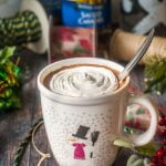 Santa's Little Helper - a low carb spiked cocoa is the perfect way to unwind during the holiday rush. Creamy, sweet and only 3.8g net carbs, you can drink this with or without alcohol to spread that holiday cheer!
