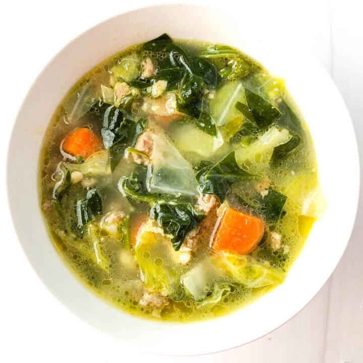Keto Vegetable Sausage Soup