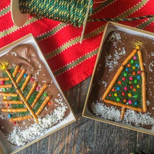 5 minute christmas chocolate bars