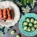 These creamy herb filled bacon rolls are sure to be a hit at your next party. As a low carb appetizer it's easy and delicious. The herb cream filling can be used on cucumber slices as well.