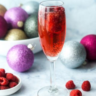 Low Carb Holiday Raspberry Mimosa