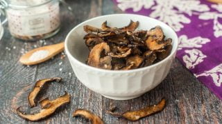 Low Carb Portobello Mushroom Chips