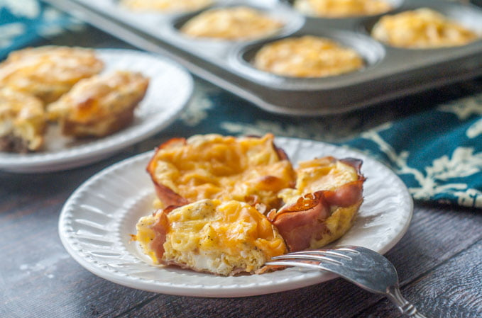 These easy breakfast sausage egg cups make a delicious low carb grab and go breakfast or snack. Make ahead and store in the freezer for an easy low carb breakfast.