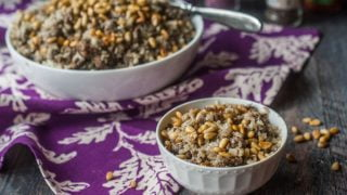 Middle Eastern Cauliflower Rice Pilaf (low carb)