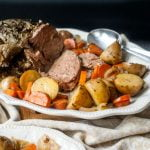 This is the time of year to make a nice slow cooker herb garlic lamb roast. Easy to make and the perfect way to celebrate the holidays with loved ones.