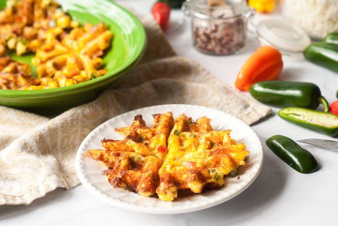 Low Carb Jalapeño Popper Waffles