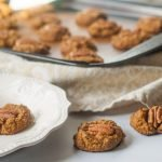 These pumpkin pecan breakfast cookies are the perfect grab and go, low carb breakfast. Make a big batch and store in the freezer and you are ready to go in the morning. Each cookie has only 1.3g net carbs and are gluten free too!