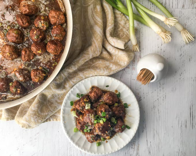 These low carb Mongolian beef meatballs will satisfy your craving for takeout food. Eat over cauliflower rice or take to your next party as a low carb appetizer. Only 1.9g per 8 meatballs.