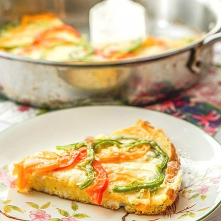 If you are looking for a quick and easy low carb breakfast idea try this pepper & gruyere frittata. It also makes a delicious brunch dish that only has 2.7g net carbs per serving. Or make a big pan and freeze the rest for later.