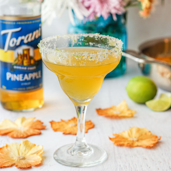 Spicy Pineapple Margarita (low carb, sugar free) #AToraniBrunch