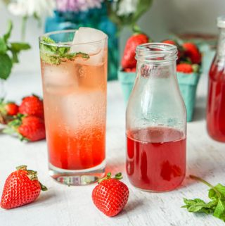 Strawberry Mint Shrub Drink #SundaySupper