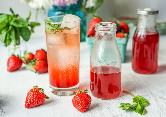 Strawberry Mint Shrub Drink (low carb)