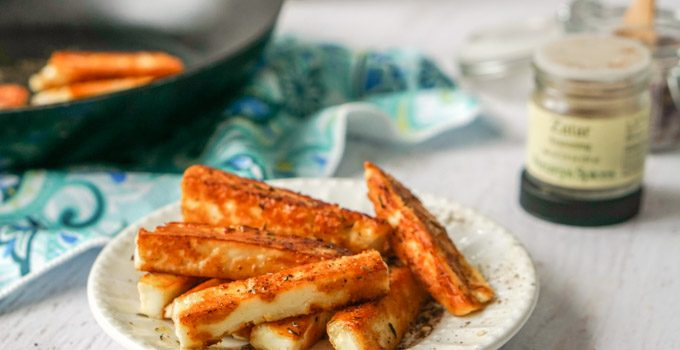 Za'atar Halloumi Cheese Fries (low carb)