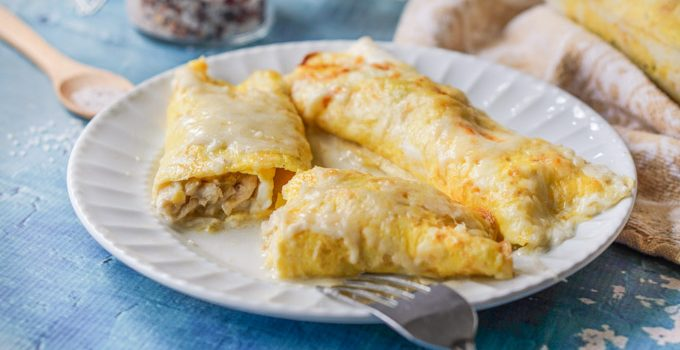 Creamy Chicken Crepes (low carb)