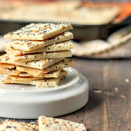 If you love everything bagels you will love low carb everything crackers. These gluten free crackers are very easy to make and are a tasty low carb snack on their own or with toppings.