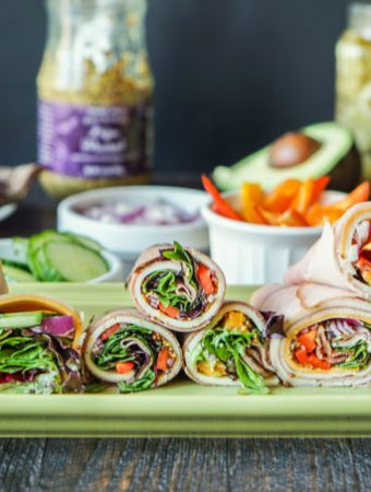 These low carb lunchmeat wraps are a deliciously easy low carb snack or even lunch that you can make in minutes. Using low carb vegetables, condiments and cheeses, you can mix and match to make a tasty wrap without the bread.