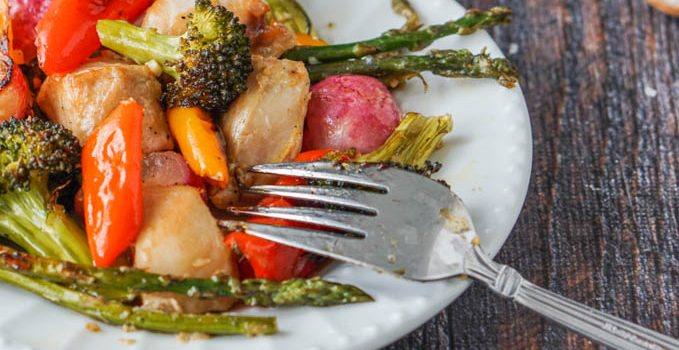 Marinated Chicken & Vegetables Sheet Pan (low carb) #SundaySupper
