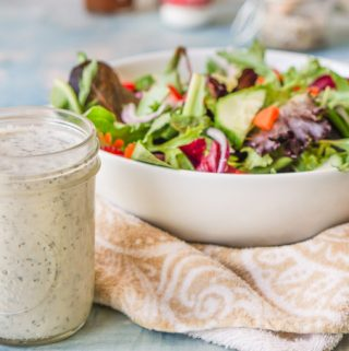 If you are looking for a most delicious, low carb and dairy free ranch dressing recipe, I'v got one for you! This is full of flavor and at only 0.3g net carbs per tablespoons, you can go to town on your salads.