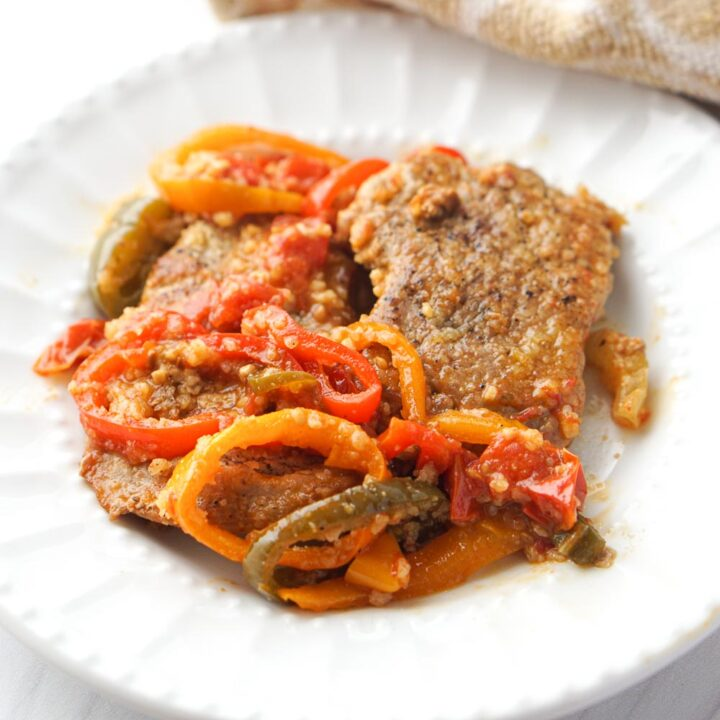3 Pepper Pork Tenderloin Skillet Dinner