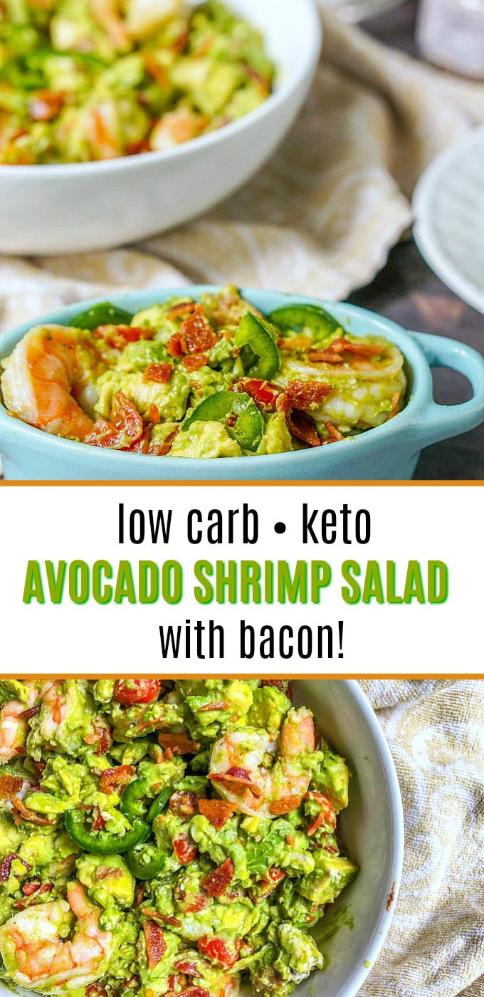 KETO AVOCADO SHRIMP SALAD WITH BACON EASY LOW CARB RECIPE