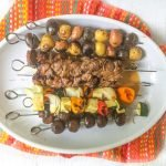 marinated steak kebab dinner - platter