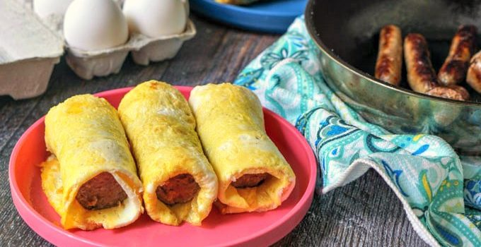 Freezable Grab & Go Sausage Egg Roll – Easy Low Carb Breakfast