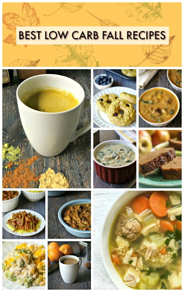 When I think of fall I think of quick breads, soups and stews. As well as pumpkins, squashes and casseroles. Below are my most popular low carb recipes for the fall season. Hope you enjoy them!