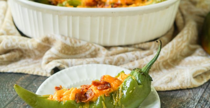 Buffalo Breakfast Stuffed Hatch Chile Peppers Recipe  (low carb)