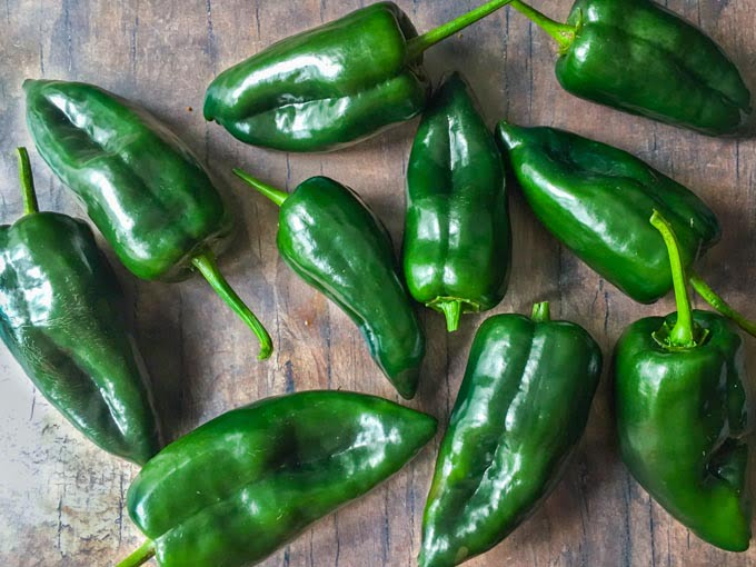 raw poblano peppers