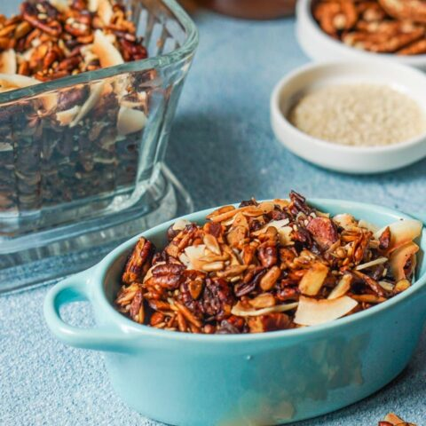 Samoa Cookie Flavored Gluten Free Granola (low carb too)