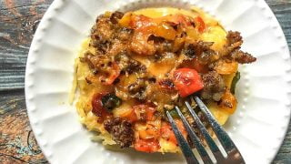 Spaghetti Squash Low Carb Breakfast Casserole - for lunch or dinner too!