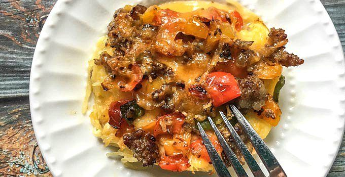 Spaghetti Squash Low Carb Breakfast Casserole – for lunch or dinner too!