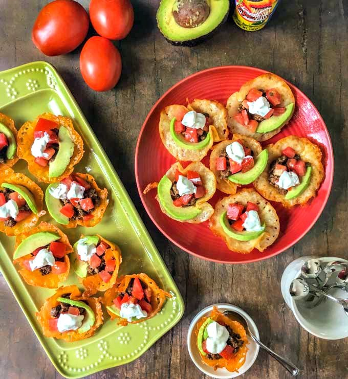 These low carb taco cups are so easy to make that you can eat them for lunch, as a snack or serve as a low carb appetizer. Each taco cup only has 1.8g net carbs!