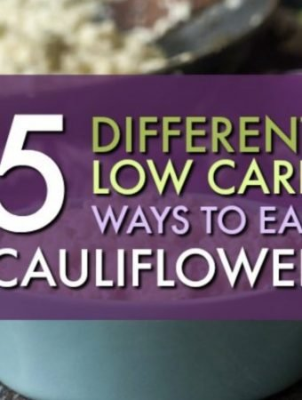 Cauliflower is a low carb dieters best friend. Even if you don't like the taste of cauliflower, when prepared right it can be actually craveable! Check out these 5 low carb ways to eat cauliflower and try 1 today!