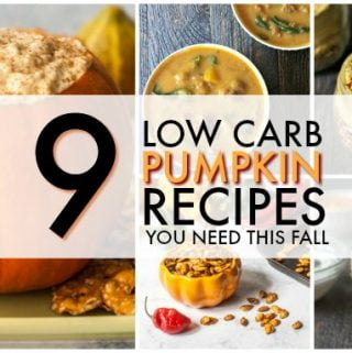Here are 9 low carb pumpkin recipes that you need to have this fall. Everything from sweet low carb desserts to savory snacks.