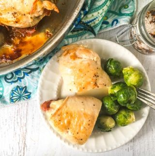 This easy chicken cordon bleu recipe is a simple dish you can make any day of the week. Using Swiss cheese, prosciutto all wrapped up in thin chicken cutlet. It's a naturally low carb dinner.